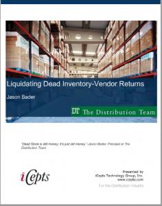 Liquidating Dead Inventory-Vendor Returns